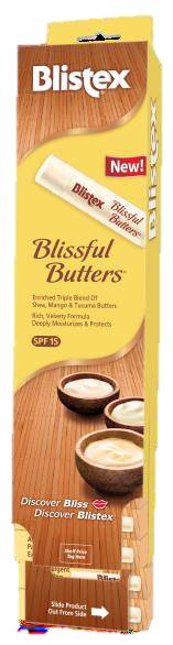 Blistex 24 ct Clip Strips Blissful Butters   CASE