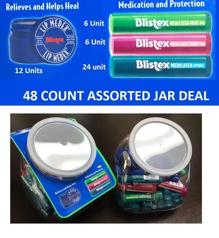 Blistex  48 ct Assorted Jar   BOX