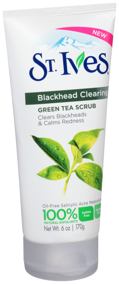 ST. Ives 6 oz Blackhead Clearing Green Tea Scrub      12 Pack